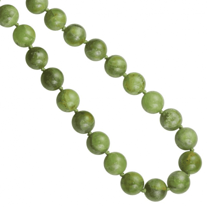 Ladies Shipton and Co Silver 28 Long rare Green Garnet Beads BKC008GG