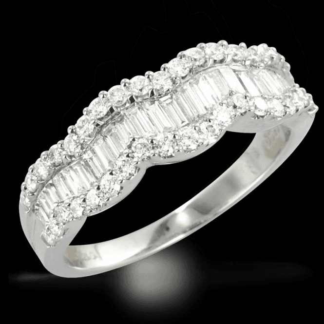 Ladies Shipton and Co Exclusive 18ct White Gold and 0.93ct Diamond Ring TFL504DI
