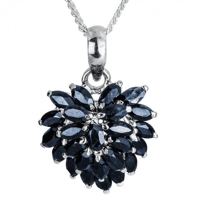 Black Swan Pendant of Layered Sapphire