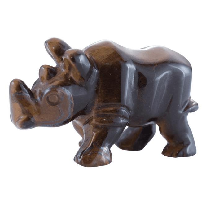 Shipton and Co Two Inch Tiger Eye Rhino Carving CMH011TE