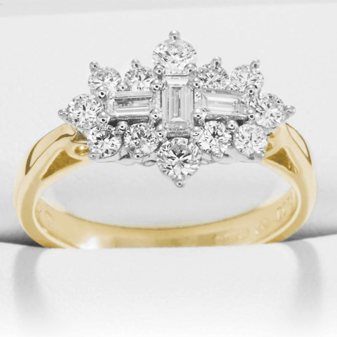 Ladies Shipton and Co Exclusive 18ct Yellow Gold and 0.75ct Diamond Ring TFL495DI