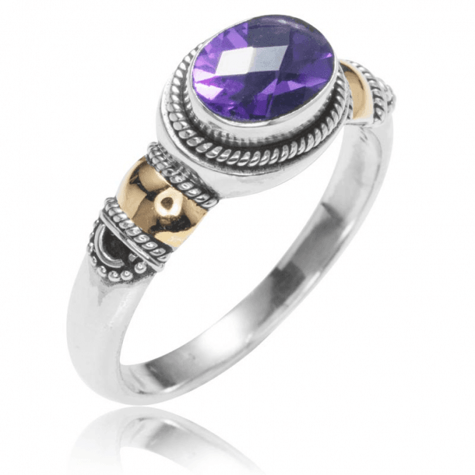 Ladies Shipton and Co Silver and Amethyst Ring TSS186AM