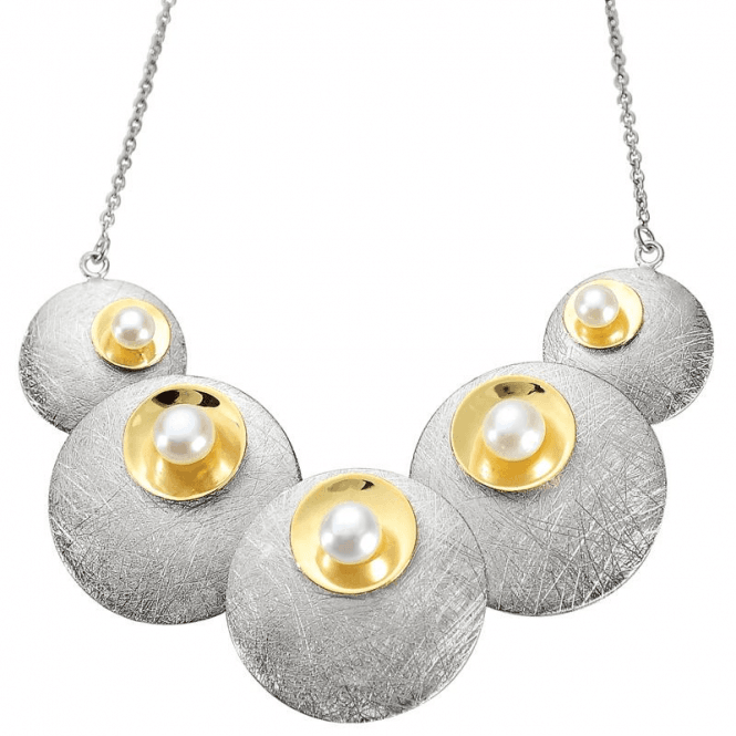Ladies Shipton and Co Silver and Freshwater Pearls Necklace TNI008FP