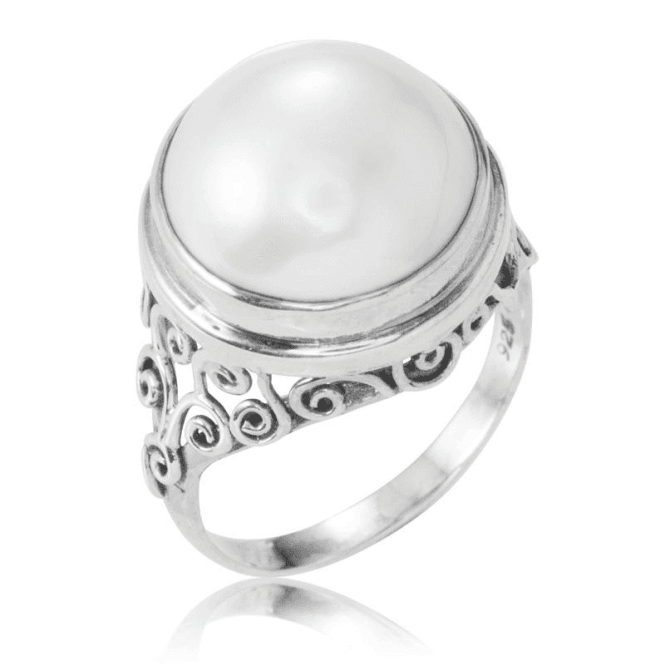 Ladies Shipton and Co Silver and Mabe Pearls Ring TFE107MP