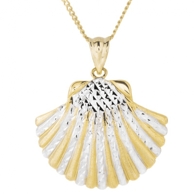Ladies Shipton and Co 9ct Yellow Gold Pendant including a 16 9ct Chain TEM046NS