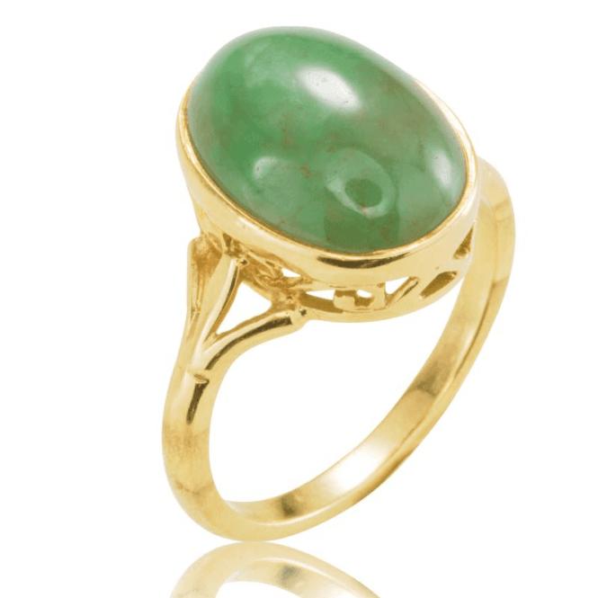 Ring 9ct 1614 Green Jadeite