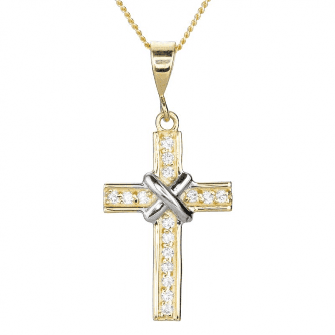Fluvial Cross in 9ct Yellow & White Gold