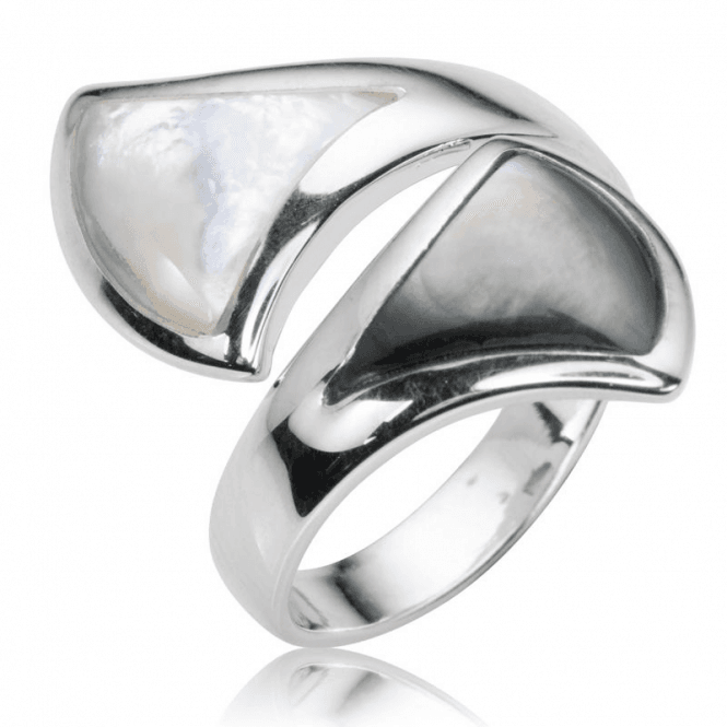 Ladies Shipton and Co Silver and Mother of Pearl Adjustable Ring TSV018PM
