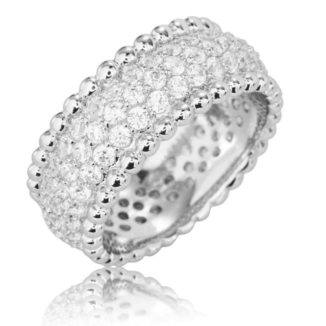 Ladies Shipton and Co Silver and Cubic Zirconia Eternity Ring TAO007CZ