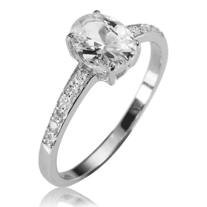 Ladies Shipton and Co Silver and Cubic Zirconia Solitaire Ring TAO018CZ