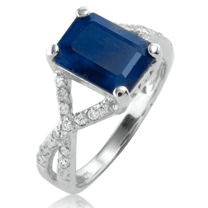 Ladies Shipton and Co Silver and Blue Sapphire Ring TFE222BSWT