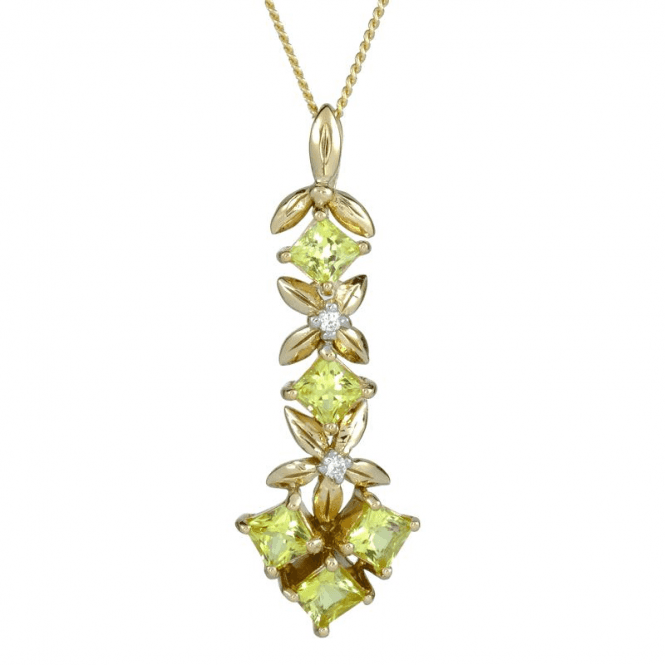 Ladies Shipton and Co 9ct Yellow Gold and Tourmaline Pendant including a 16 9ct Chain PYD153TTD