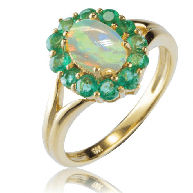 Ladies Shipton and Co Exclusive 9ct Yellow Gold and Opal Ring RYG072OPEM