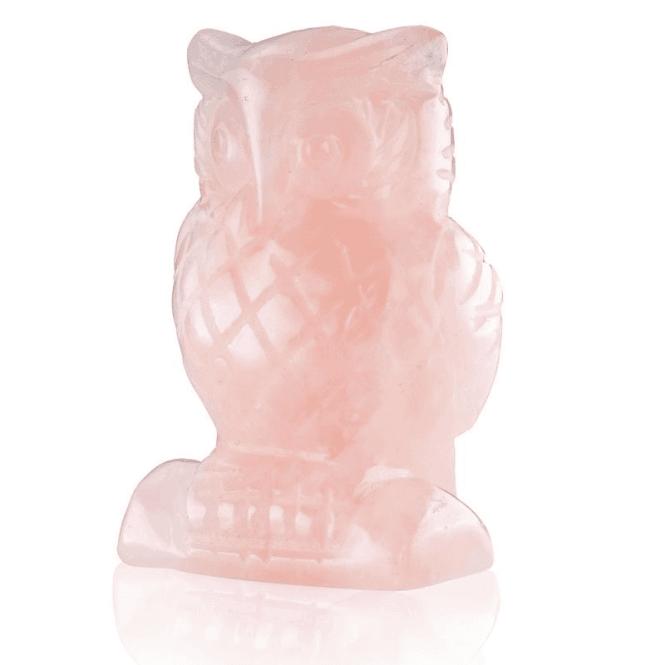 Ladies Shipton and Co Rose Quartz Owl Carving CWT024RQ