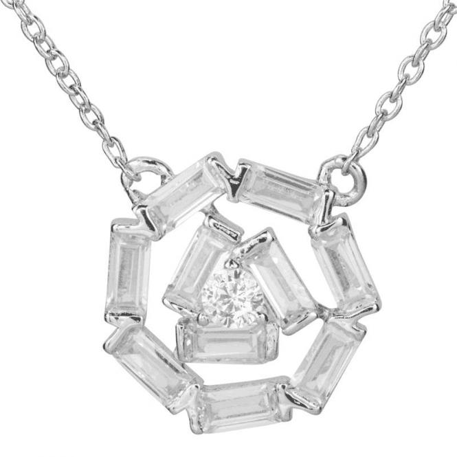 Ladies Shipton and Co Silver and Cubic Zirconia Necklace TAO032CZ