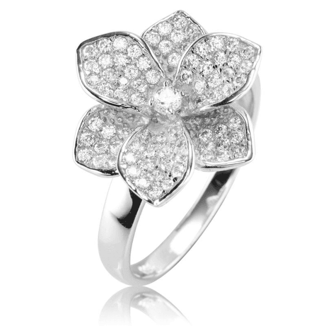 Ladies Shipton and Co Silver and Cubic Zirconia Ring TAO041CZ