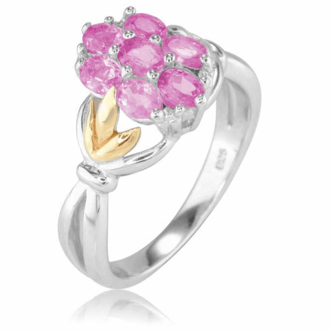 Ladies Shipton and Co Silver and Pink Sapphire Ring RQF014PS
