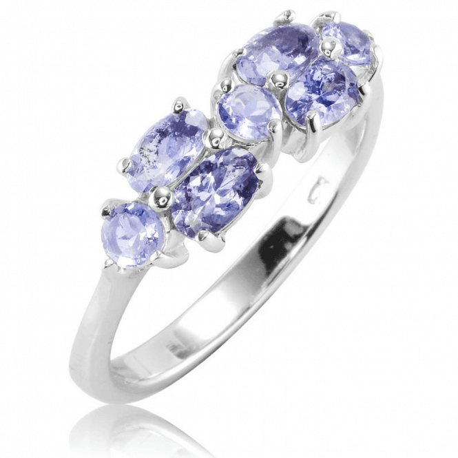 Ladies Shipton and Co Silver and Tanzanite Ring TFE252TZ