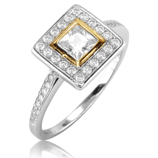 Ladies Shipton and Co Gold and Silver Cubic Zirconia Ring TAO043CZ