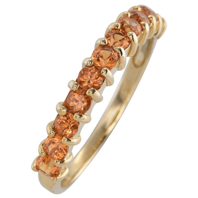 Ladies Shipton and Co 9ct Yellow Gold and Yellow Sapphire Ring RYG085YS