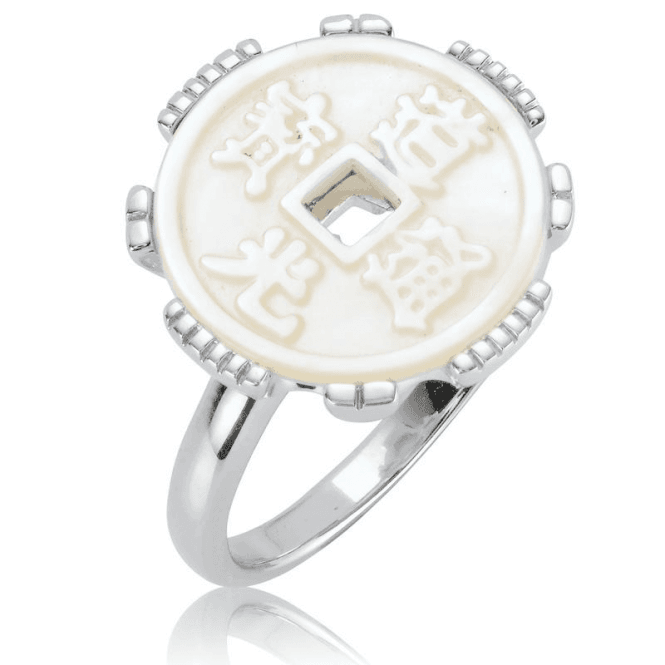 Ladies Shipton and Co Silver and Mother of Pearl Ring RQA610PM