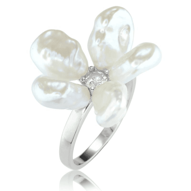 Ladies Shipton and Co Silver and Freshwater Pearls Ring TEN062FPCZ