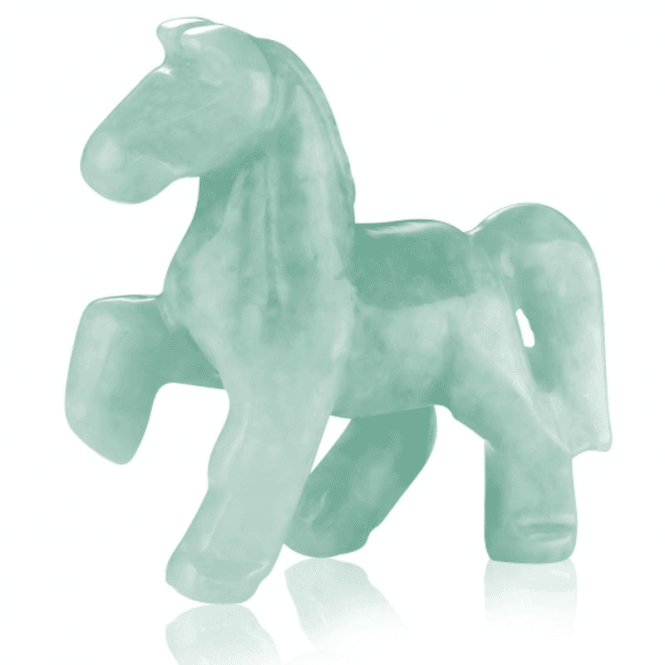 Ladies Shipton and Co Green Jade Horse Carving CFE007GJ