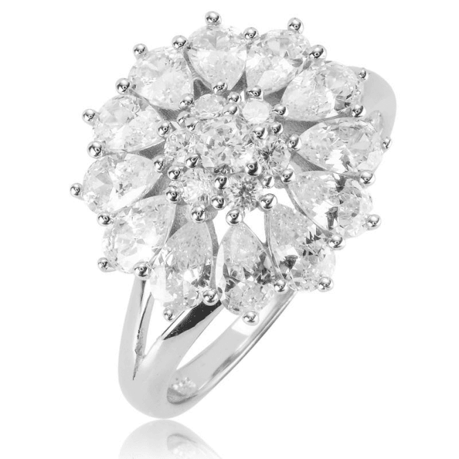 Ladies Shipton and Co Silver and Cubic Zirconia Ring TAO057CZ