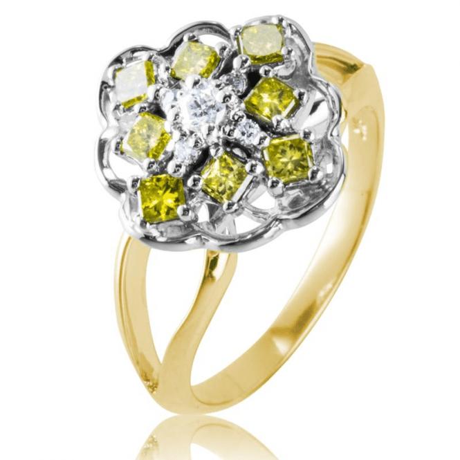 Ladies Shipton and Co 9ct Yellow Gold Yellow Diamond Ring RYD151DI