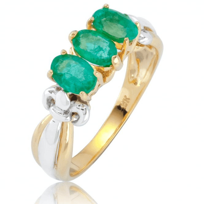 Ladies Shipton and Co 9ct Yellow Gold and Emerald Ring RYG088EM