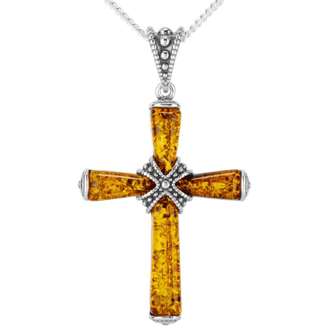 Meditation Cross in 3½cts of Amber