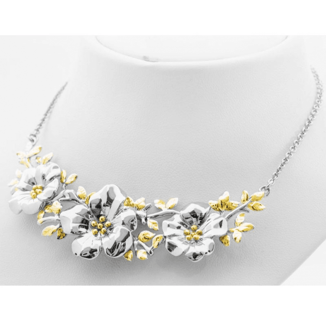 Garland Necklet Hand-Carved from Solid Silver