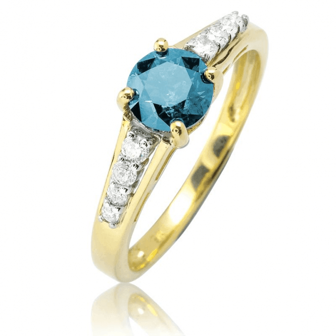 Sentinel Ring Guards One Full Carat of Blue Diamond