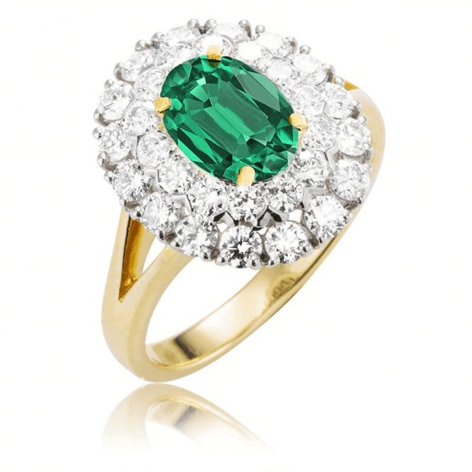 Ladies Shipton and Co Exclusive 18ct Yellow Gold and 2ct Zambian Emerald Ring S08781EMD