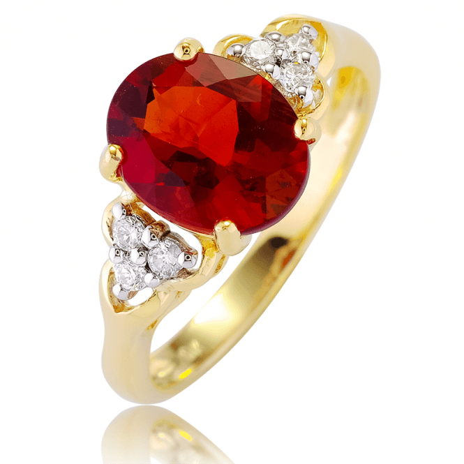 Rare Andesine with Ice-Bright Diamonds