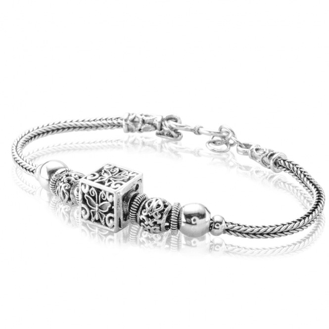 Ladies Shipton and Co Silver Butterfly Bracelet TFE312NS