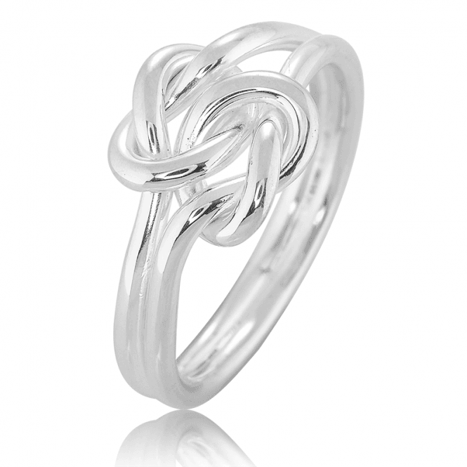 Sterling Silver Ring of Celtic Lovers Knots