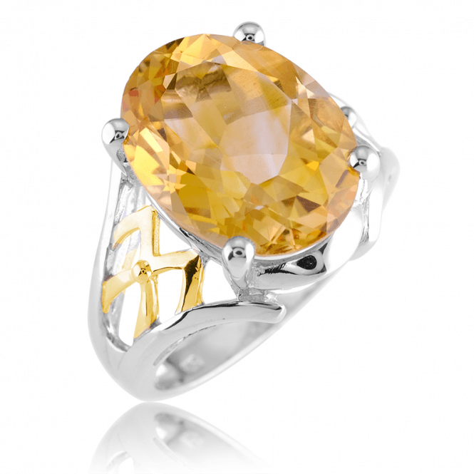 Plantagenet Ring with 8cts of Sunbright Citrine