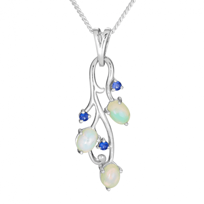 A Paradise Pendant of Abyssinian Opals & Sapphires