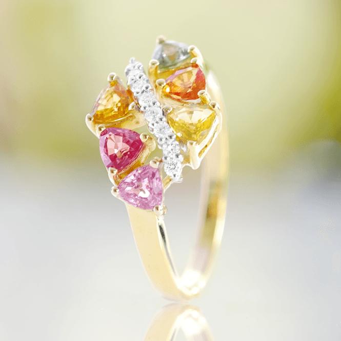Six Trillion Cut Fancy Sapphires along a River of Diamonds