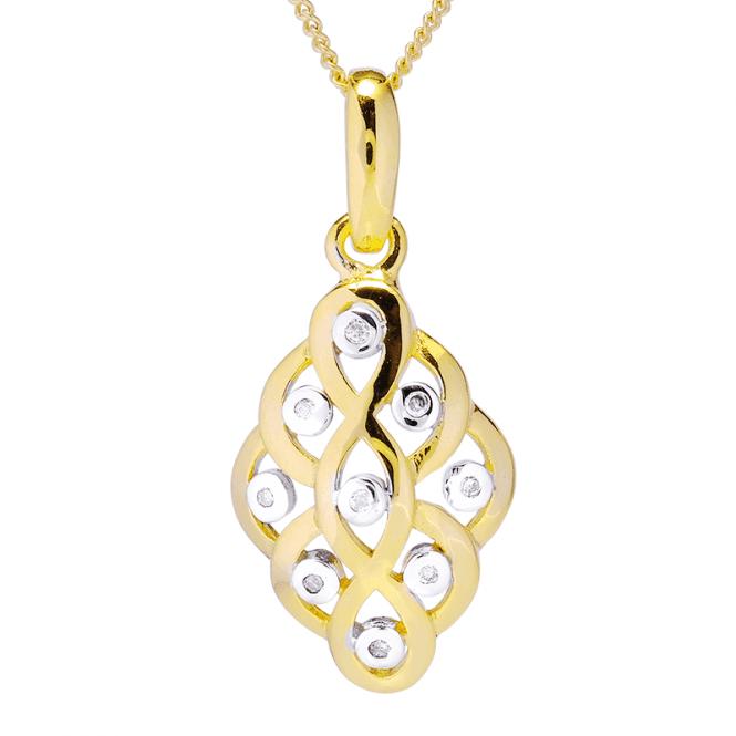 Celtic Dream Pendant Weaving with 18ct Gold & Diamonds