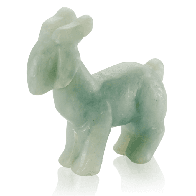 Collectors Edition Goat in Solid Green Jade