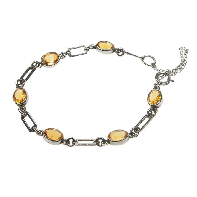 Ladies Shipton and Co Exclusive Silver and Citrine Bracelet AQ1171CI