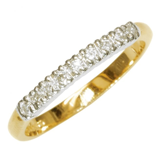 Slim Half Eternity Ring Sits Easily with Engagement & Wedding Bands