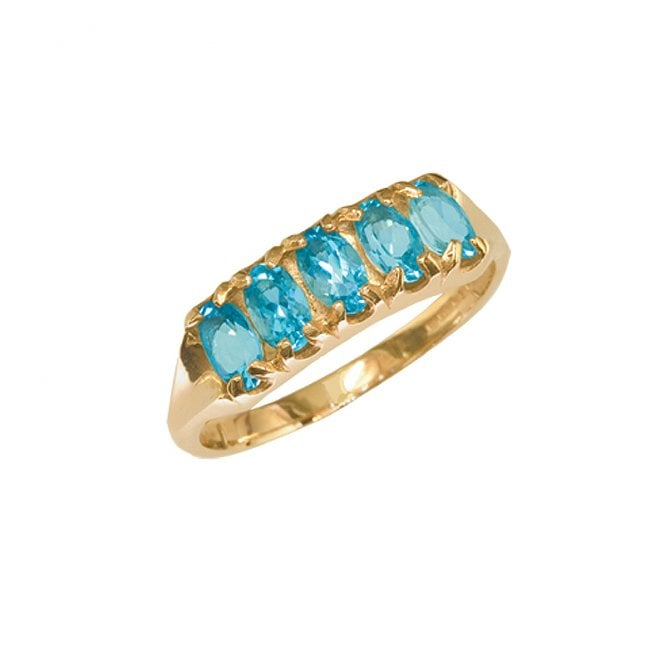 Ladies Shipton and Co Exclusive 9ct Yellow Gold and Aquamarine Ring RY1176AQ