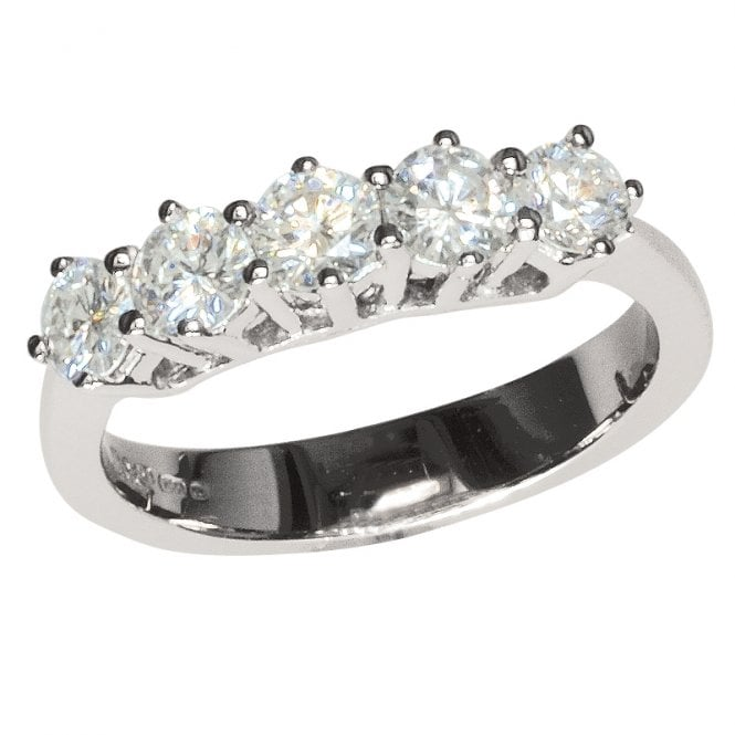 Ladies Shipton and Co 18ct White Gold % Stone 1ct Half Eternity Diamond Ring TAR291DI