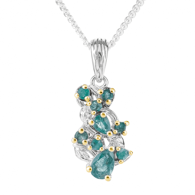 Emerald Pendant Nuanced with Gold