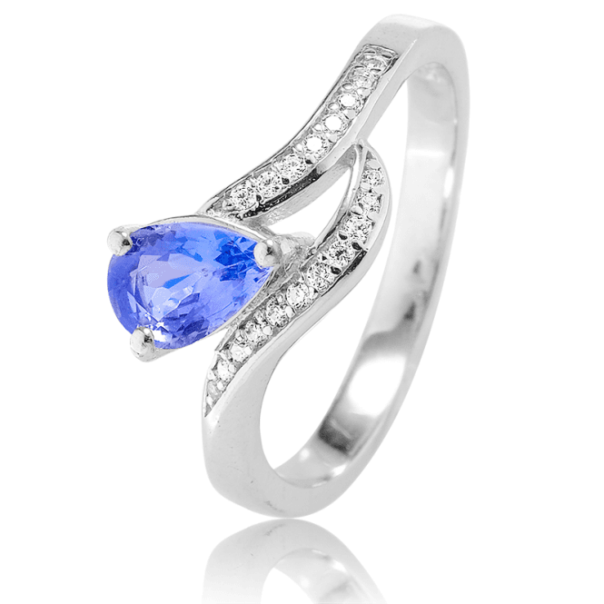 Silver Statement Ring with Tanzanite