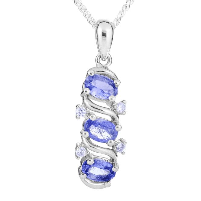 1.20cts Tanzanite Pendant with a Diamond-bright Sparkle