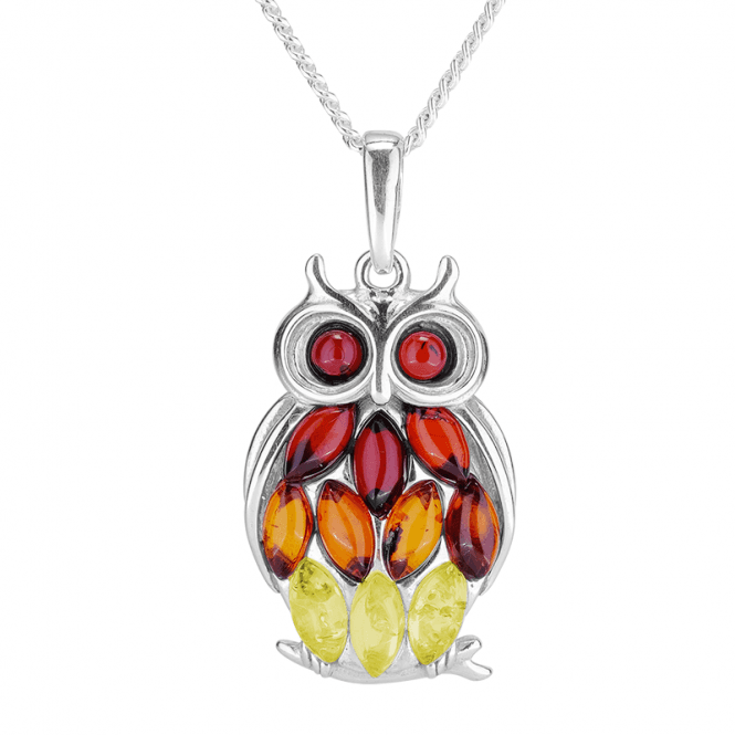 Amber Owl Pendant for Wise Luminaries